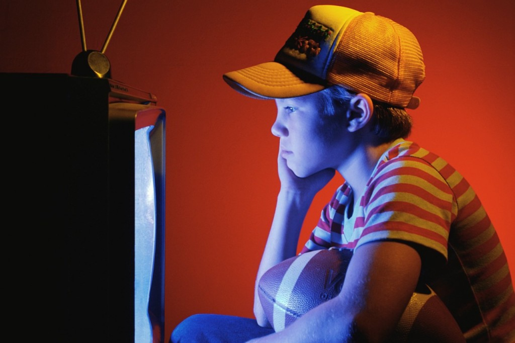 Young Boy Watching Television