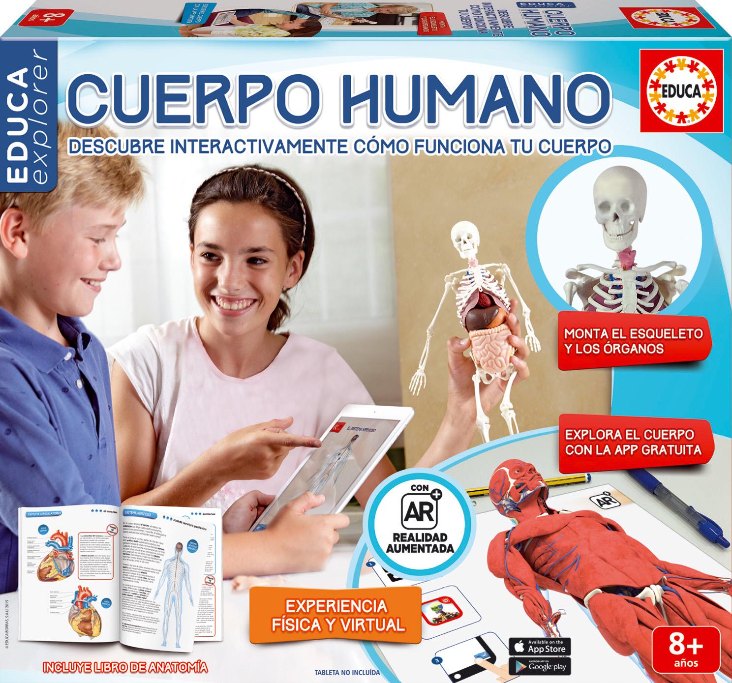 """Descubre """"Cuerpo Humano"""" nuevo juego interactivo de Educa Borras ..."""