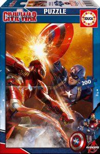 EDUCA Capitán América Civil War puzzle 200 pz