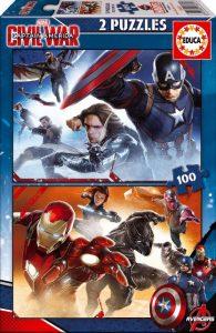 EDUCA Capitán América Civil War puzzle 2x100 pz